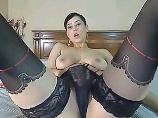 Masturbating  Panty Solo Stockings Webcam