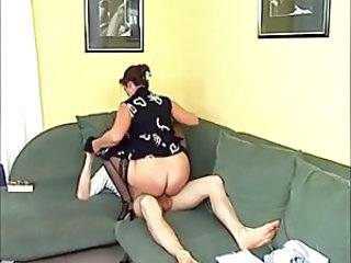 Clothed European German Mature Mom Riding Stockings Mother German
