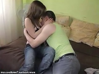 Amateur Jeans Teen Daughter