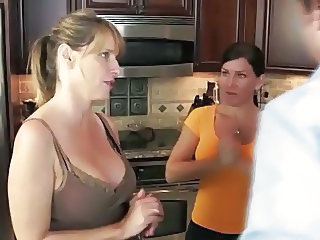 Kitchen  Mom Threesome