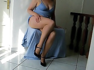 Amateur Chubby Homemade Legs  Wife