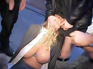 Big Tits Blowjob Clothed Gangbang Hardcore Natural  Outdoor German