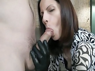 Blowjob Clothed Latex  Leather