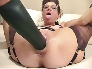 Dildo Glasses Masturbating Mature Toy Housewife Giant