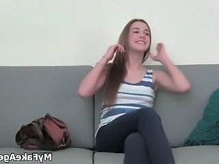 Blonde Cute Office Teen