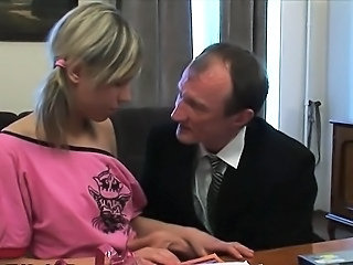 Old and Young Russian Teacher Teen