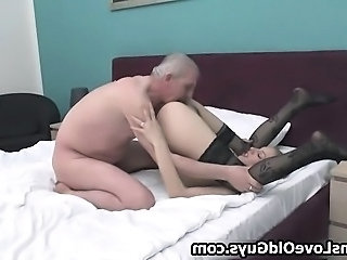 Licking Old and Young Stockings