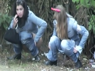 Jeans Outdoor Pissing