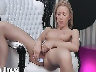 Babe Cute Masturbating Solo Teen Toy Beads