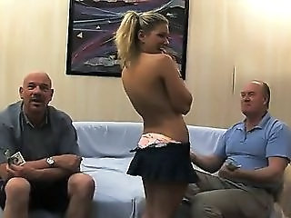 Cash Cute European Old and Young Flashing
