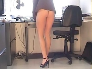 Amateur Ass Legs Office Secretary Upskirt