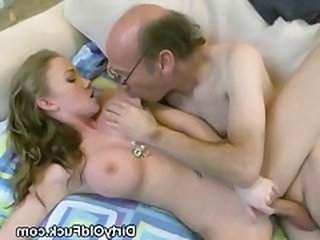 Daddy Daughter Old and Young Silicone Tits Teen