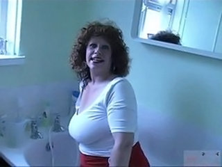 Bathroom Big Tits Chubby European Granny