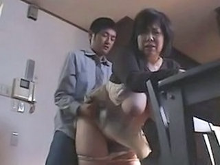 Asian Big Tits Clothed Doggystyle Japanese Mature Mom Natural Old and Young
