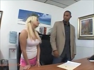 European Interracial Office Teen Huge
