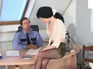 Amazing Office Pantyhose Secretary Teen