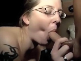 Amateur Blowjob Glasses  Wife