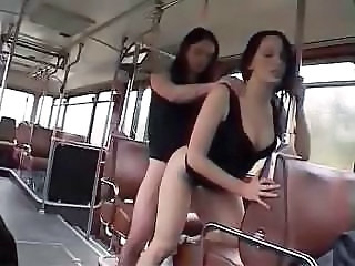 Bus European French Lesbian Public Teen French