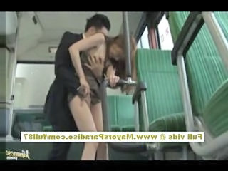 Asian Bus Clothed Forced