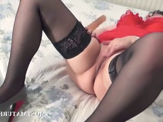 Masturbating Mature Stockings Stockings