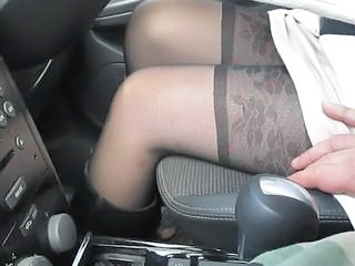 Amateur Car Stockings Stockings