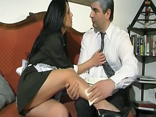 Daddy European Italian Legs Maid Old and Young Uniform