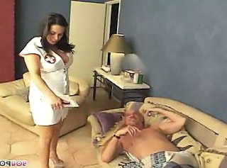 Daddy Natural Nurse Old and Young Teen Uniform Huge