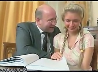 Daddy Old and Young Pigtail Student Teacher Teen Amateur