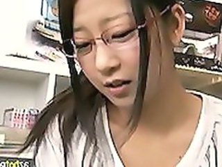 Amateur Asian Glasses Teen