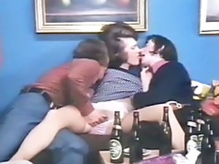 Drunk Teen Threesome Vintage Orgy