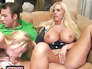 Big Tits Blowjob European Threesome