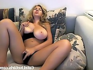 Big Tits Cute European Masturbating