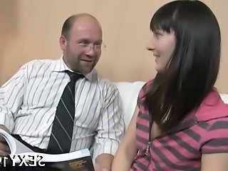 Amazing European Old and Young Teacher