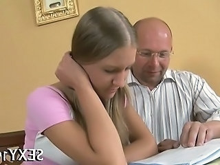 European Old and Young Teacher Teen