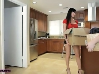 Amazing Big Tits European Kitchen Mom