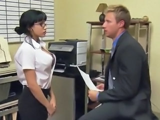 Babe European Glasses Office Secretary Teen Boss