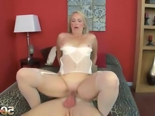 Blonde Chubby European Mature Riding
