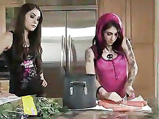 Goth Kitchen Lesbian Masturbating Tattoo Teen