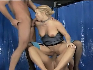 Blowjob Double Penetration European  Riding Threesome