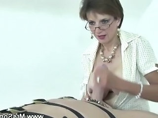 European Glasses Handjob Mature Slave