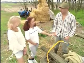 European Farm Outdoor Threesome
