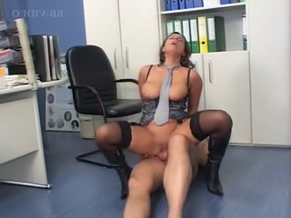 Big Tits European German  Office Riding German