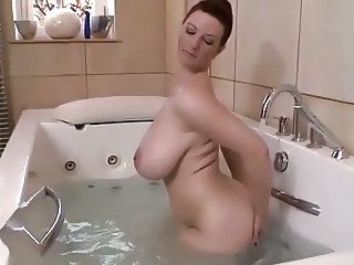 Bathroom Big Tits  Mom Natural Bathroom