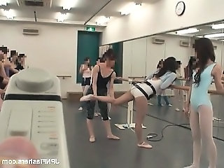 Asian Dancing Flexible Japanese Public Teen