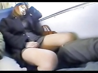 Asian Bus Japanese Public Sleeping Teen