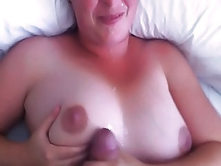 Amateur Cumshot Handjob Homemade Natural Pov Wife