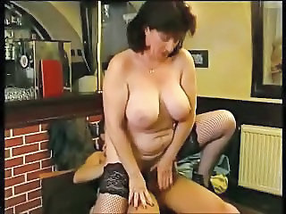 Big Tits Chubby Mature Mom Natural Old and Young Riding Stockings
