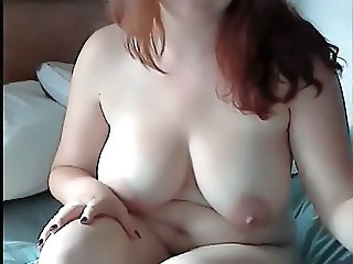 Big Tits  Natural Redhead  Webcam