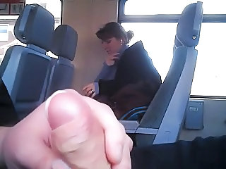 Bus Man Public Voyeur Flashing