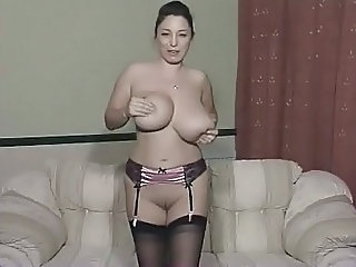 Big Tits British European  Stockings British